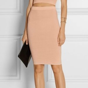 Jonathan Simkhai Ribbed Knit Pencil Skirt Pink